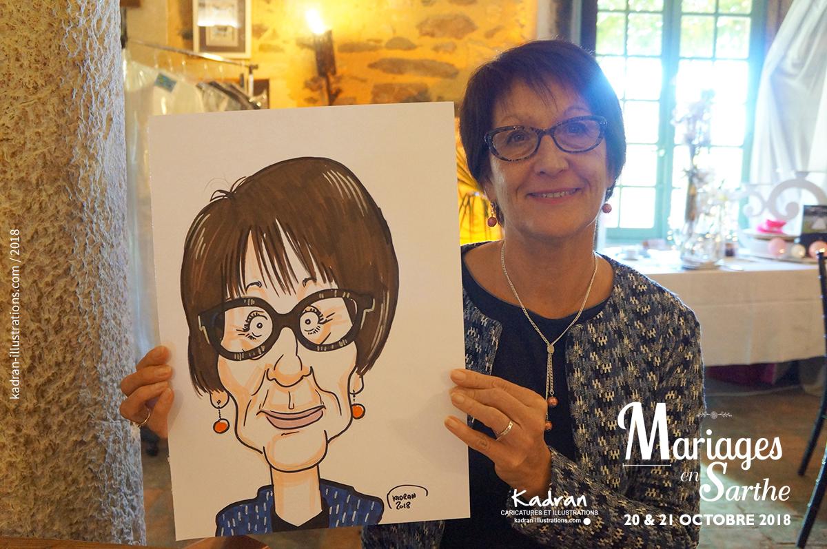 Animation caricatures pour le salon Mariages en Sarthe 2018