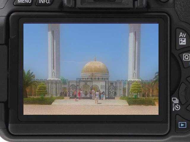 Podgląd zdjęcia na wbudowanym w aparat wyświetlaczu LCD