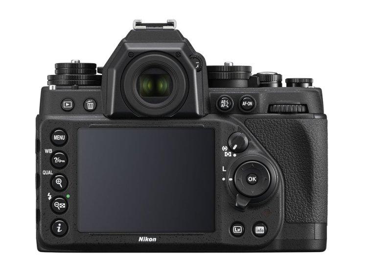 Nikon Df widok z tyłu na panel