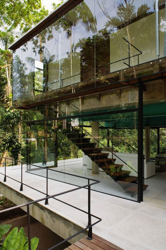 Contemporary Architecture of Iporanga House, Contemporary Architecture, Iporanga House, stair,