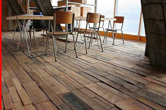 Recycled-Flooring, creative inexpensive flooring ideas,