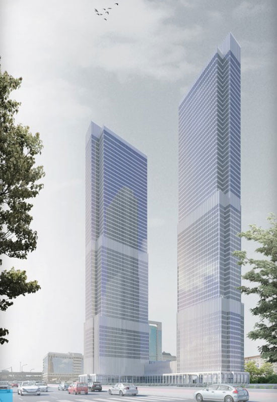 tallest under construction buildings in europe, ST-Towers-Moscow-HOK-SPEECH-Architectural-Office-288m-Completion-date-2015,