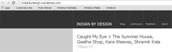 Indian Architecture and Design Bloggers, indian-by-design