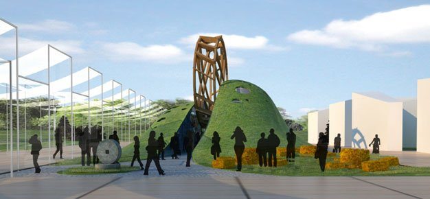 temporary architecture in milan expo, Belarus Pavilion Milan Expo,