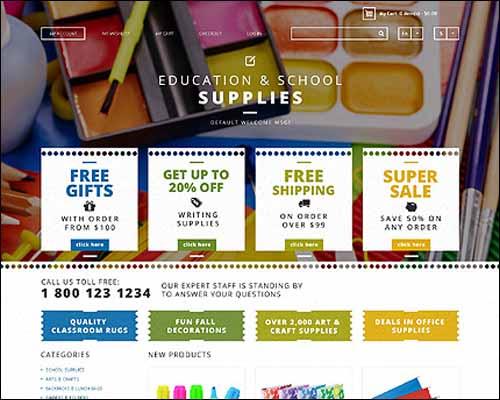 School Supplies Magento Theme