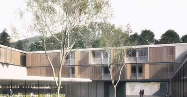 Boarding School Design, by AM3, Onto Mount Stelvio, in Bozen, Italy,