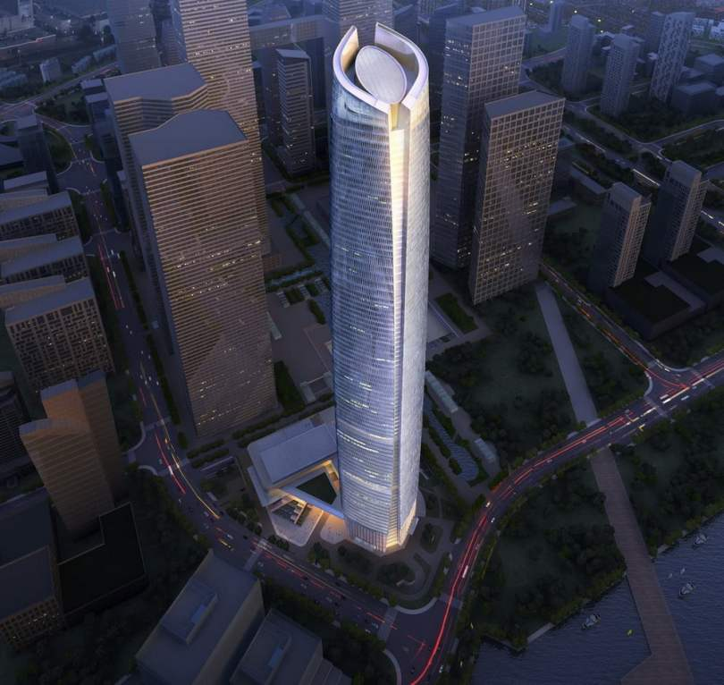 Wuhan Center in Wuhan, Tallest Building, tallest building in the world, tallest building in the world under construction, tallest building in the india, future tallest building in the world, tallest building in world under construction, upcoming tallest building in the world, thinnest building in the world,