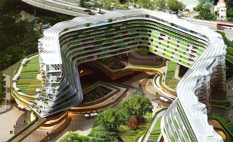 residential living with urban farming,