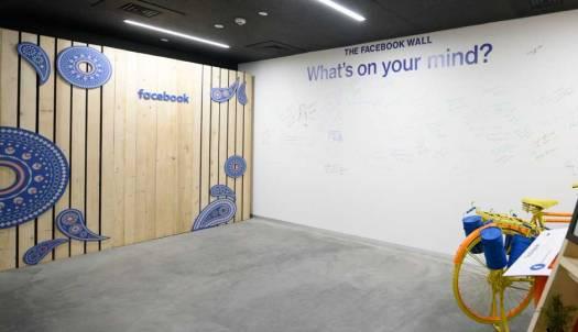 facebook office wall in mumbai office,