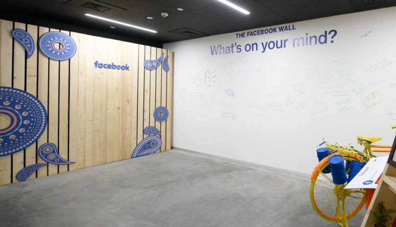 facebook office wall in mumbai office,