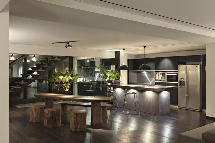 open floor plan penthouse,