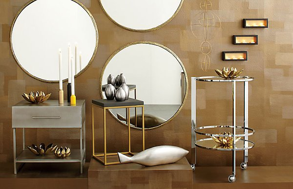 metallic home accessories,