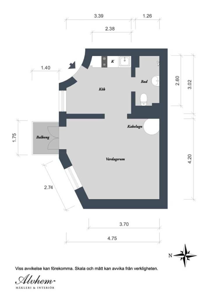 one room studio apartment design,