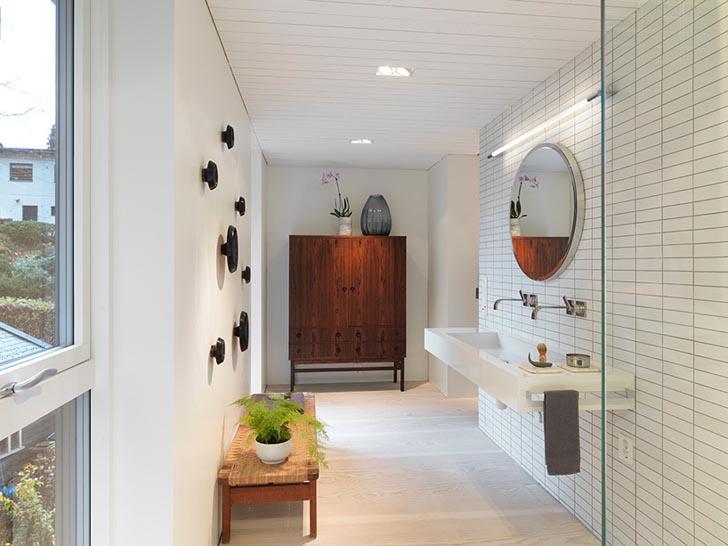 clad in stained dark wood, modern villa interior design, modern villa designs plan, modern villa dwg,