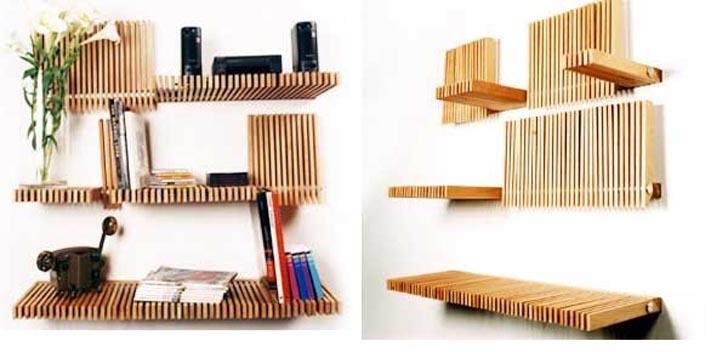 Folding Bookshelves,