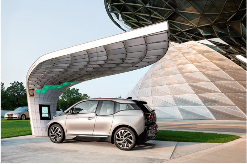 EIGHT installs solar powered fast-charging station at BMW welt 3