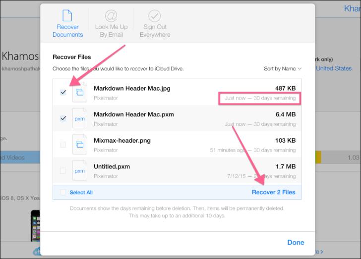 Recover Files Using iCloud.com-3