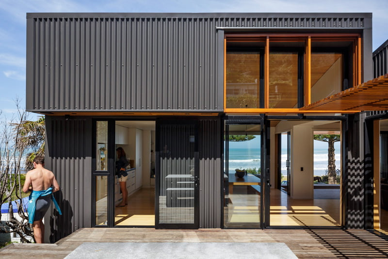 beach side family house,