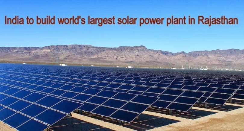 World's largest solar project, _near_Sambhar_lake_Rajasthan, largest solar power plant,