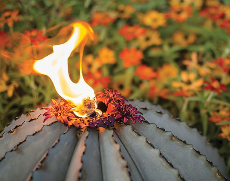 Golden Barrel Cactus garden lamp 1