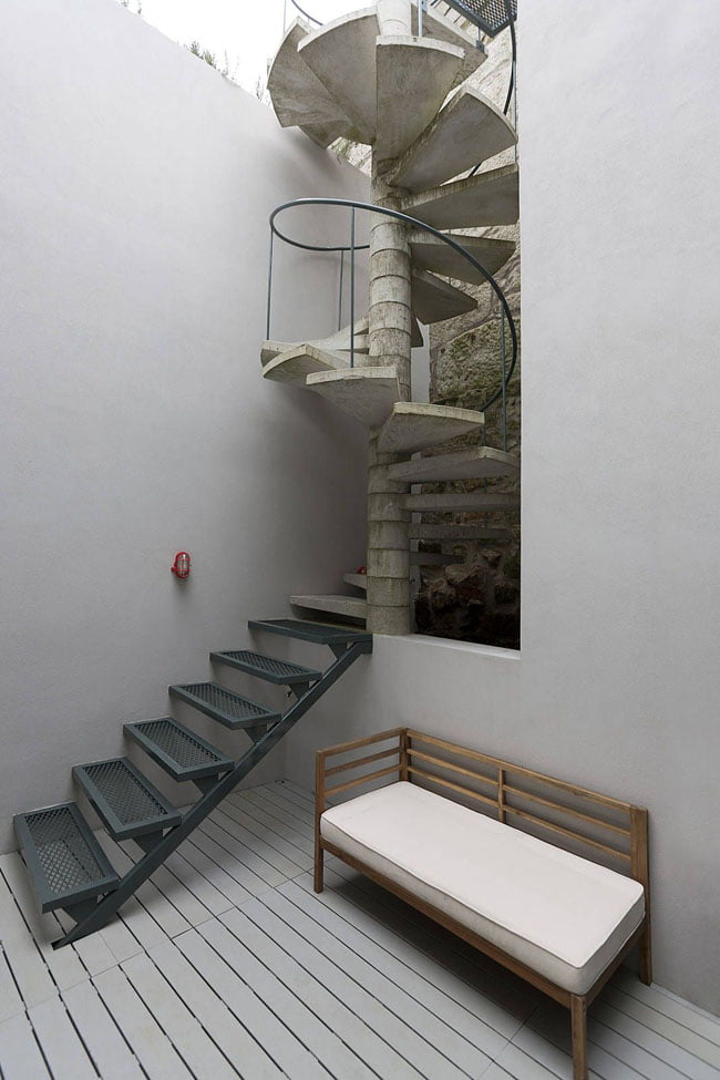 Spiral staircase,