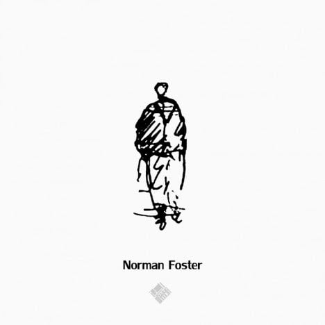 Norman Foster's Style to draw Human scale