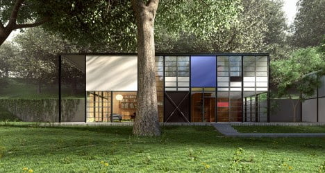 mid century architecture of Eames House by Charles and Ray Eames