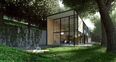 mid century modern architecture of Eames House by Charles and Ray Eames