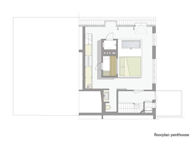 penthouse bedroom design plan