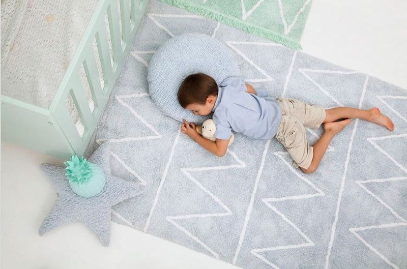 light pastel colored rugs for kids bedroom