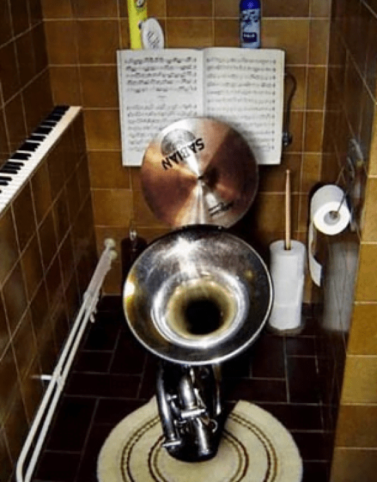 Coolest Toilets Design World for Music Lovers