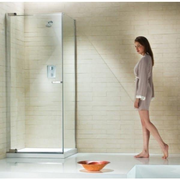 frameless corner pivot shower enclosures