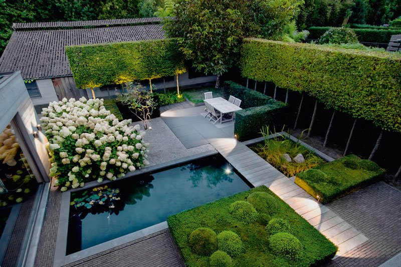 natural pool element in backyard landscaping ideas