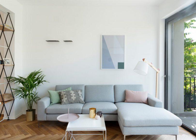 pastel shade sofa seats ideas for modern apartment decor