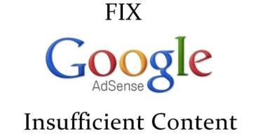 Google AdSense Disapproved Insufficient Content,