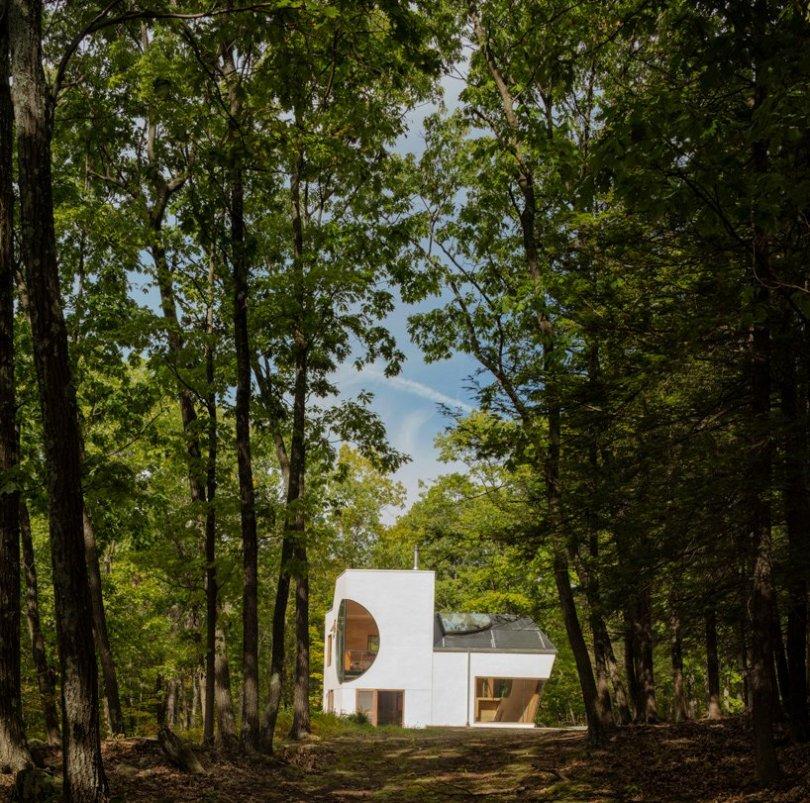 Geometric shapes modern House.