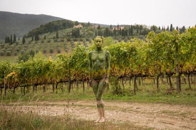 body paint landscape,