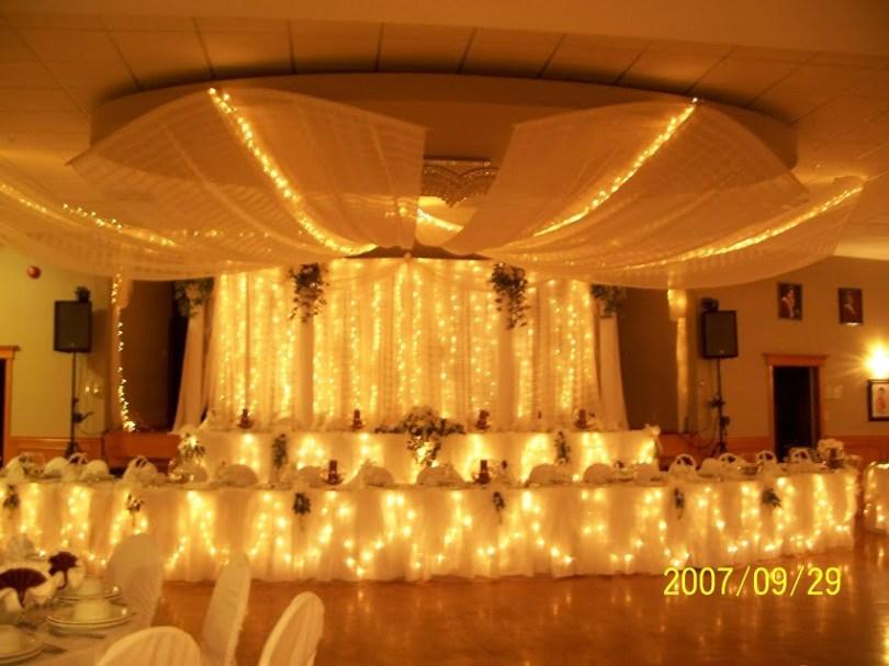 Decorating ideas for a wedding reception,