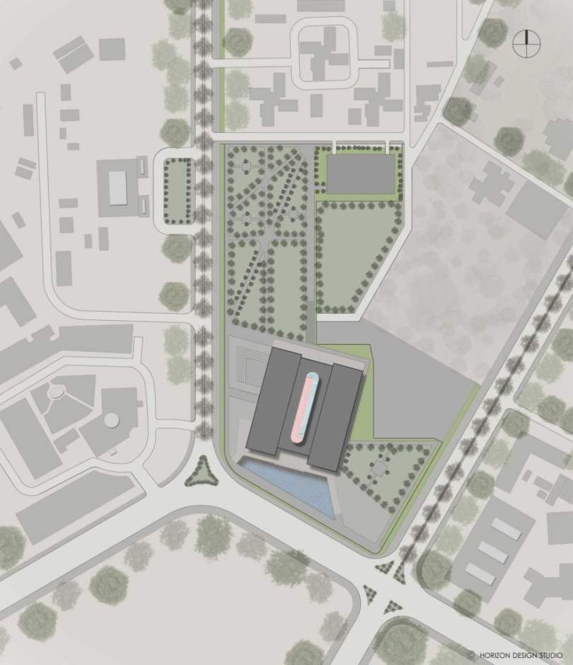 SITE PLAN OF PROPOSED INDIAN NATIONAL WAR MUSEUM,
