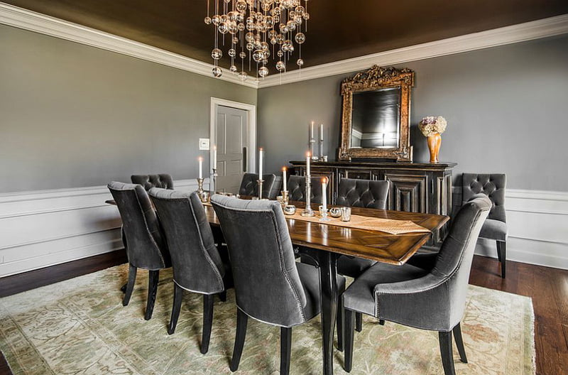 rustic gray dining room sets,