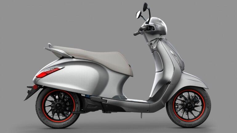 Bajaj Chetak electric scooter look,
