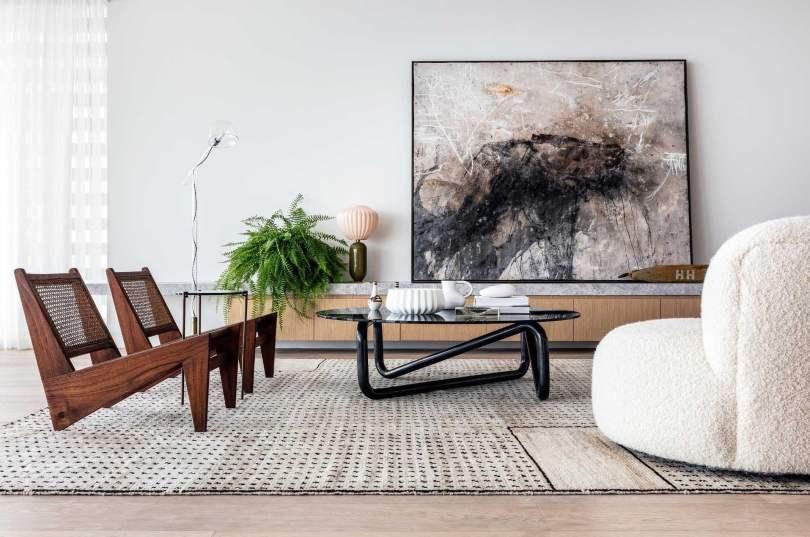 Modern Home Interior Design Ideas, Japanese Minimalism open plan living room design,