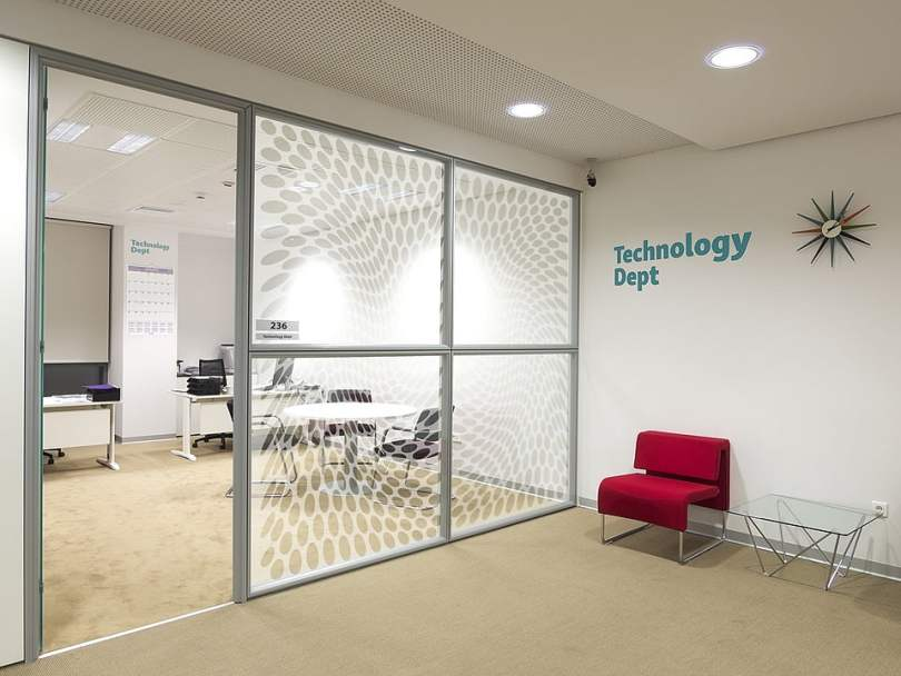 Acrylic Frosted Panels as partition wall,
