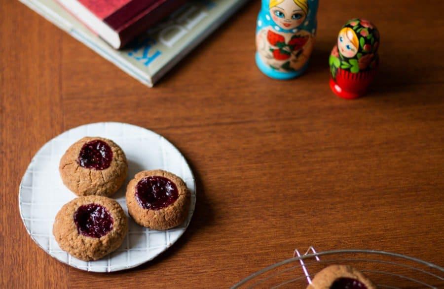 Walnuss-Himbeer-Kekse