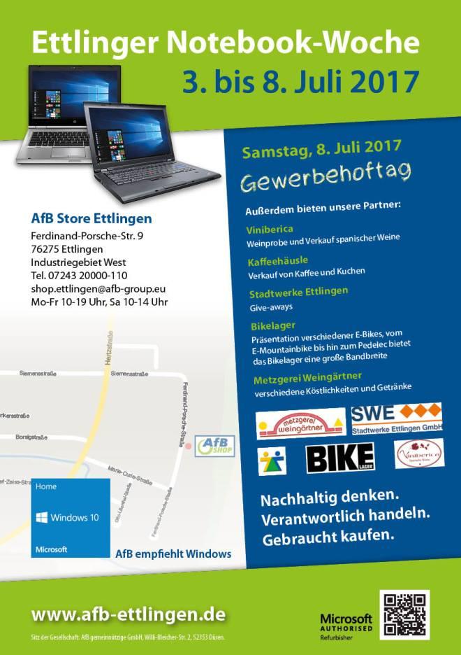 Flyer zum AfB — Gewerbehoftag