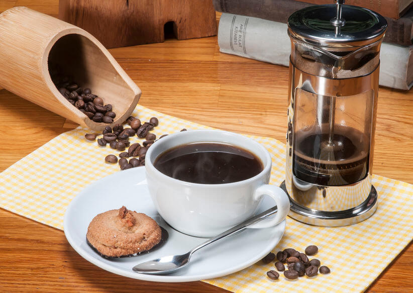 kaffee kochen french press