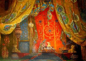 Background for Scheherazade by Leon Bakst (1866 - 1924). Source: imgarcade.com