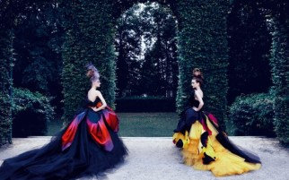 "Dior Couture. Photo: Patrick Demarchelier for ""Dior Couture,"" a  book by Ingrid Sischy, Patrick Demarchelier."