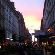 Twilight at Beaubourg.