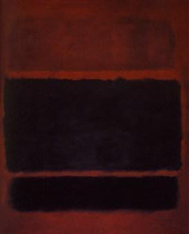 "Mark Rothko, #20 or ""Black,brown on maroon."" Source: artsearch.nga.gov.au"